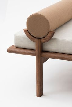 furniture details Walnut Crescent Lounge by Vonnegut/Kraft Diy Garden Furniture, Furniture Makeover, Furniture Decor, Rustic Furniture, Cheap Furniture, Furniture Movers, Furniture Online, Discount Furniture, Furniture Cleaning