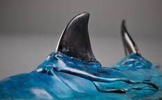 Bronze sculpture of a cruising shark by Adrian Flanagan Fish Sculpture, Bronze Sculpture, Sculptures, Shark, Abstract Art, Wildlife, Products, Sculpting, Sharks