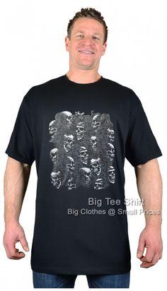 Black BTS Wall of Skulls T-Shirt 2xl 3xl 4xl 5xl 6xl 7xl 8xl