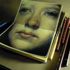 .@Hollie Baker. Fructose | Marco Mazzoni's sketchbook-colored pencil