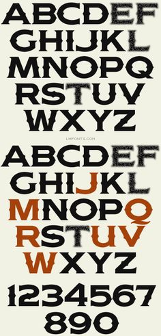 """LHF Woodmere (Spurs) by John Davis: A bold, masculine letter style inspired by old fire trucks from the late 1920's. A more unique, classic substitute for the often overused """"Copperplate"""" font. Perfect for designs that require an appearance of stability (banks, professional services, etc.) Includes 6 fonts: Regular, Spurs, Regular Shadow 1 2 and Spurs Shadow 1 2."""