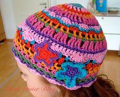 crafts for spring : colorful hat, crochet pattern   make handmade, crochet, craft