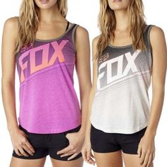 Fox Exception Womens Sleeveless Work Out Tech Tank Tops