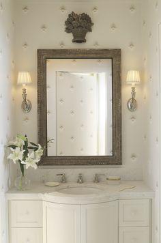 Silvery bathroom.
