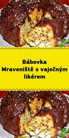 Bábovka Mraveniště s vaječným likérem Banana Bread, Beef, Meat, Steak