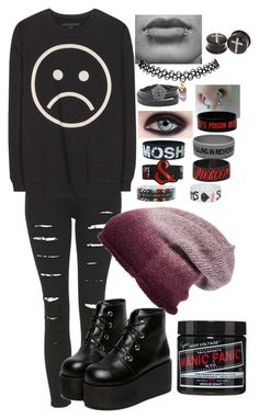 """""""Depression setting in."""" by hold-on-til-may ❤ liked on Polyvore featuring Topshop, Phase 3, Marc by Marc Jacobs, Wet Seal and Hot Topic"""