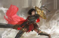 Smite - Bellona, Mingchen Shen on ArtStation at https://www.artstation.com/artwork/knVAn