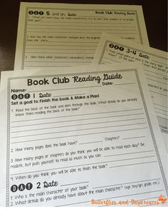 Book Clubs Reading Unit Resources- Includes Book Club Reading Guide, Conversation Starters, Charts, Management and Organization Resources, Lesson Ideas