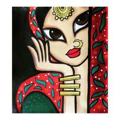 Art Drawings For Kids, Art Drawings Sketches, Dancing Drawings, Indian Artwork, Indian Folk Art, Madhubani Art, Madhubani Painting, Rajasthani Art, Abstract Face Art