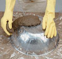 Cómo hacer un macetero de hypertufa con decoración exterior