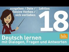 Learn German through dialogues / Lesson 18 / going out / Dates / reflexive verbs Reflexive Verben, Learn German, Online Courses, Going Out, Youtube, Family Guy, Dating, Learning, Fictional Characters