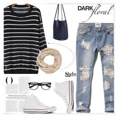 """""""casual school life"""" by sheinside ❤ liked on Polyvore featuring Abercrombie & Fitch, Converse, Vanity Fair and maurices"""