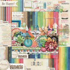 {Be Happy! @ TheDigiChick} a thousand pieces in bright, fun colors