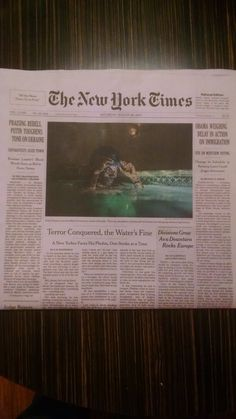 Aquaskills made the front page of the New York Times for swimming classes in New York City Aqust 30th, 2014. Teaching a fear of water student Attis Cloptin. Victory and Success