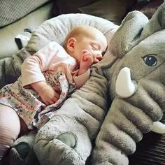 Large Plush Elephant Pillow by Baby in Motion