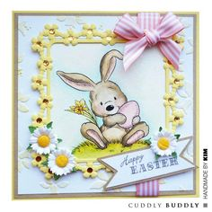 Cut beautiful frames for your card making and papercrafts with thin metal cutting dies. Happy Easter, Easter Bunny, Easter Cookies, Flower Frame, Digital Stamps, Your Cards, Card Making, Greeting Cards, Paper Crafts
