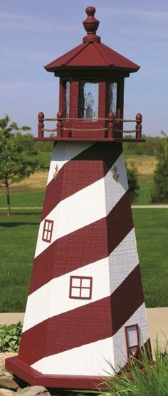 Lancaster PA Amish Crafted Solar Powered Lighthouse Mailbox