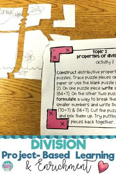 8 interactive and fun 4th and 5th grade common core math enrichment projects that foster real life problem-solving. These project-based activities challenge elementary students and are perfect for gifted or highly capable students. Click the link to see what this is all about! #enrichment #mathenrichment #commoncore #commoncoremath #math #PBL #projectbasedlearning #fifthgrade #fourthgrade #4thgrade #5thgrade #mathactivities division