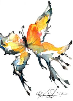Butterfly Song ... Original Watercolor by Kathy Morton Stanion