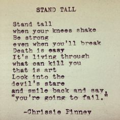 Stand tall.......