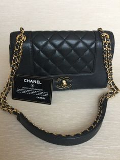 f9094aa1cbf9 Details about Chanel Black 2.55 Reissue Quilted Patent Leather Small  Accordion Flap Bag