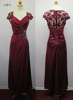 3 Color Mother Of Bride/Groom LONG DRESS HOMECOMING EVENING ORMAL S-4XL