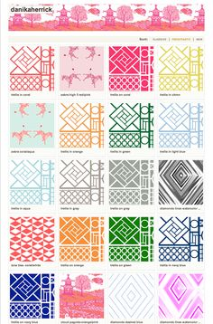 GORGEOUS SHINY THINGS: New Patterns (Spoonflower)