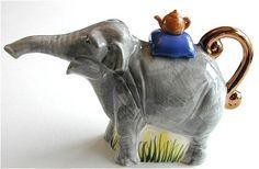 Elephant Teapot by Andy Titcomb Elephant Teapot, Elephant Art, Jumbo The Elephant, Teapots Unique, Tea Tins, Teapots And Cups, Tea Cozy, Tea Art, Tea Infuser