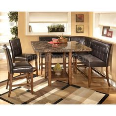 Kitchen granite table buffet hummmm maybe do this with my table lacey corner counter height dining room set watchthetrailerfo