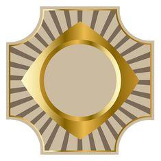 Крем и золото роскошные этикетки PNG клипарт