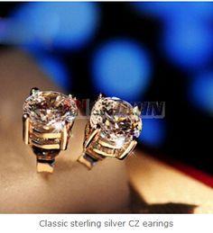 Bride Earrings, Women's Earrings, Diamond Earrings, Cheap Silver Jewelry, Crystal Jewelry, Sterling Silver Earrings, 925 Silver, Country Jewelry, Fashion Plates
