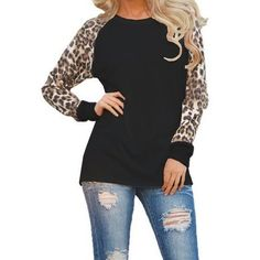 5XL Plus Size Leopard Printed Autumn Long Sleeve Tshirt 2018 Women Winter  Casual Tee Shirt Female 14f5bb37f8d3