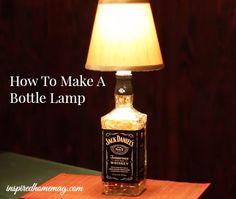 Restverwertung mal anders ;) Eine Lampe aus einer leeren Schnapsflasche - das wäre doch was für das 24. Türchen im Adventskalender. Ein DIY bei dem wenig Material benötigt wird.
