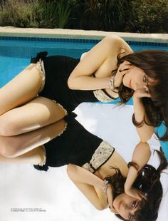 Zooey is so fabulous in this retro-chic bathing suit....she brings personality to every look.
