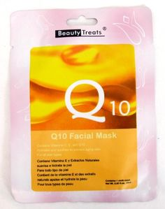 BEAUTY TREATS Q10 Facial Mask Refreshing Vitamin C Solution for All Skin Types Choice Qty 10 pk * You can find out more details at the link of the image.