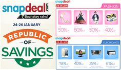 b1c03b68b Save More On this Republic Shopping With Snapdeal of Saving Sale Start From  - January 2015