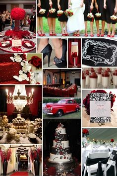 red and black theme wedding