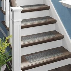 Beauvais Dogbone Repeat Stair Tread (Set of Stair Tread Rugs, Carpet Stair Treads, Carpet Stairs, Stair Railing, Tile Stairs, Wooden Stairs, Wood Floor Stairs, Textured Carpet, Beige Carpet