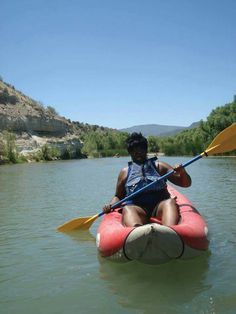 Trying to learn how to kayak.