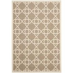 @Overstock.com - Brown/ Beige Indoor Outdoor Rug (4' x 5'7) - Great for your patio or in front of your fireplace, this beige indoor/outdoor rug is easy to maintain and weather resistant. Use it anywhere that you want a little more softness and comfort, and this rug will add a beautiful geometric style to any area.  http://www.overstock.com/Home-Garden/Brown-Beige-Indoor-Outdoor-Rug-4-x-57/6511673/product.html?CID=214117 $43.53