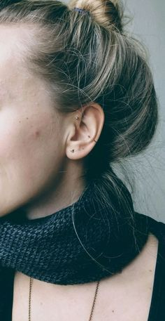 Do a single or maybe double forward helix on left ear to?