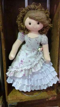 Doll Girl Doll Clothes, Doll Clothes Patterns, Doll Patterns, Girl Dolls, Doll Wigs, Doll Hair, Knitted Dolls, Felt Dolls, Pretty Dolls