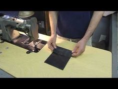 YouTube...sewing though leather...slide easily with newspaper underneath