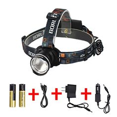 T6 FT 4000LM LED Military Headlight Zoom Waterproof USB Adjustable 4 Mode X