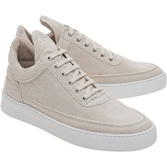 Filling Pieces Low Top Jenna Beige // Leather and canvas sneakers (11.100 RUB) via Polyvore featuring shoes, sneakers, low top canvas sneakers, beige sneakers, leather trainers, low profile shoes и plimsoll shoes