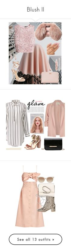 """""""Blush ll"""" by bgarnett92 ❤ liked on Polyvore featuring drinks, food, fillers, food and drink, alcohol, Chicwish, Giuseppe Zanotti, Ted Baker, Steffen Schraut and Urban Decay"""
