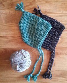 Bonnet de bébé lutin - Knitting And Crocheting Baby Hats Knitting, Crochet Baby Hats, Knitting For Kids, Loom Knitting, Knitted Hats, Knitting Patterns, Crochet Patterns, Knitting Sweaters, Knitting Machine