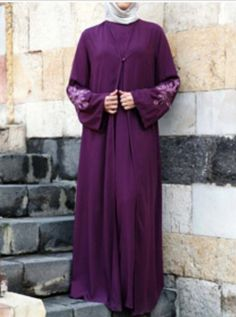 Deep purple abaya