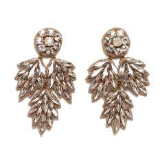 Deepa Gurnani Crystal Bridal Earrings in Clear or Champagne