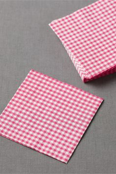 Gingham Cocktail Napkins